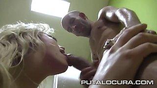 Blonde latina fuck midget 2 )(español)