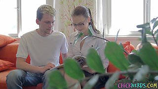 Teen student drilled by her tutor