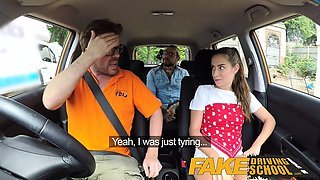 Fake Driving School Sexy horny learners secretly fuck