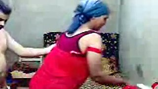 Mature Egyptian aunt sucking her husband's dick deepthroat