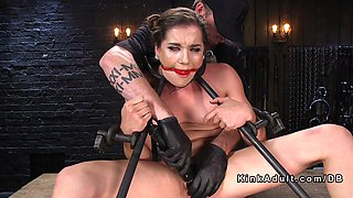 A gorgeous babe loves when she's tied up and abused
