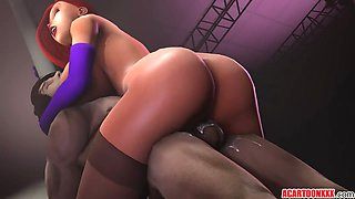 Jessica Rabbit enjoys being fucked by big cocks