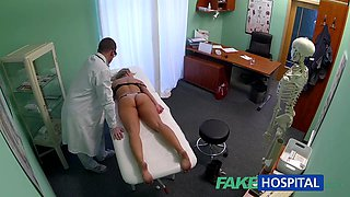Blonde beauty getting to fuck a fake doctor