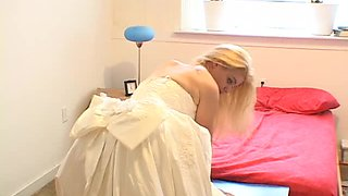 Horny blonde bride wants to be ravished like never before