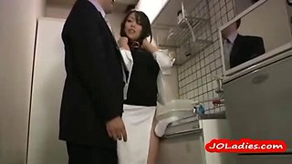 Hot office lady masturbating while standing in the office kitchen video