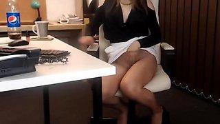 Webcam lady classyfetishrelax office edition