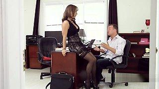Huge tits boss bangs her ex employee