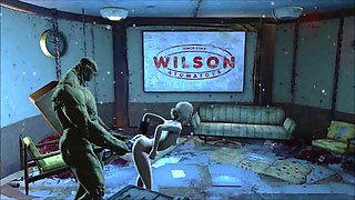 Fallout 4 Katsu sex adventure chap.11 Supermutant weapon