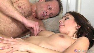 Incredible pornstars George, Rachel Ryan in Amazing MILF, Stockings porn clip