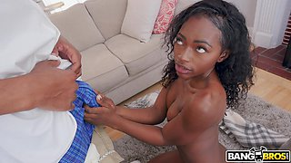 ebony lady is caught rubbing her clit