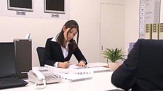 Amazing Japanese model Maomi Nagasawa, Yuria Sonoda, Meisa Asagiri in Best Office, Hairy JAV clip