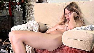 Shy virgin Rita Mochalkina masturbating cunt