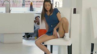 Adorable hottie Lily Adams is pleasing her man like nobody else before