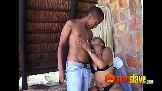 Real amateur African housewife fucks village