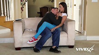 slutty teen gets an impressive workout with her stepfather
