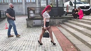 sexy leg milf in heels stockings and suspenders