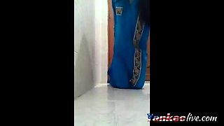 Teen Masturbates on Bathroom Floor