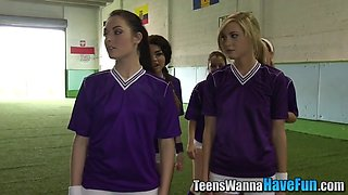real soccer teen fingers