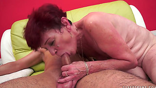 Angela Reed having fun with her boy toy