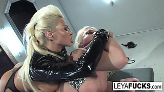 Leya Falcon   Nikita Von James in Leya Falcon Gets Dominated And Roughed Up By Nikita - LeyaFalcon