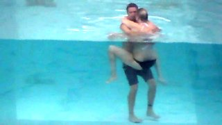 Another couple fucking in the pool