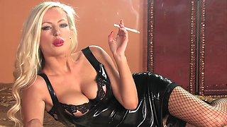 Smoking blonde 1