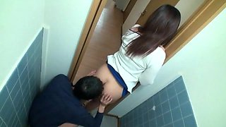 Japanese hottie enjoys some naughty banging in a toilet