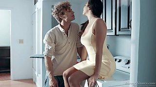Alluring hottie Karlee Grey caught sister's boyfriend sniffing her underwear
