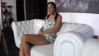 Petite Stepdaughter Doggystyled In Taboo Pov