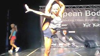 Stunningly flexible blonde bends her body wonderfully