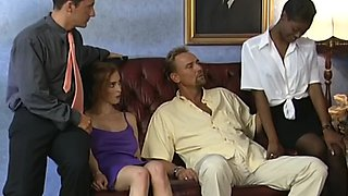 an awesome interracial foursome fuck in teh hotel room with two nasty escort chicks