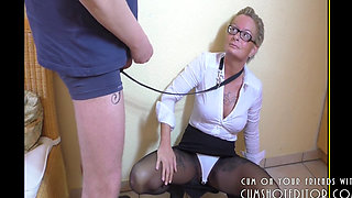 Pissing and Ass Fisting Submissive MILF Slave