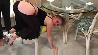 Stepmom Stuck Under The Table Erin Electra