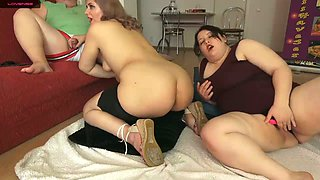 BBW Family Threesome Chubby Sisters