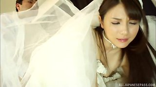 Lovely Japanese bride is in need of a man's hard love tool