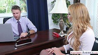 Boss can't stop fucking the most beautiful secretary Skyla Novea