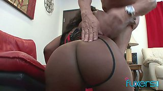 Amazing giant bottomed and big breasted black whores suck BBC