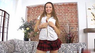 Hot student Taisha receives double penetration