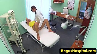 Real euro patient plowed during checkup