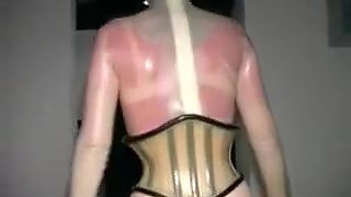 Horny Bitch Dresses In Latex And Plays