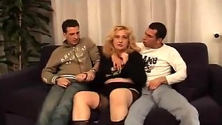 Sexy auntie abused by her two filth nephews!