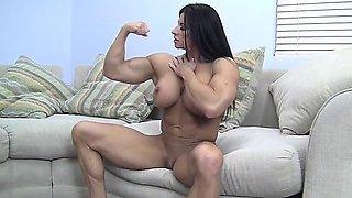 Angela Salvagno Masturbates Her Big Clit