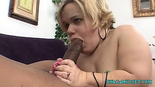 Big Black Cock for a Midget Babe