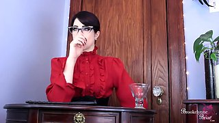 Mean School Mistress Disciplines You For Stroking Cock In Classroom