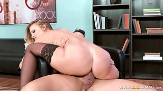 Britney Amber has a massive dong up her narrow anal hole