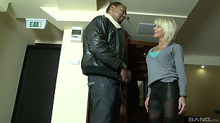 Horny Cathy gets her tight ass fucked in front of her boyfriend
