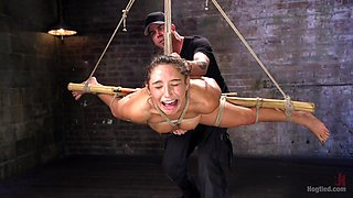 Abella Danger & The Pope in 19 Year Old Rope Slut Suffers In Extreme Bondage - HogTied