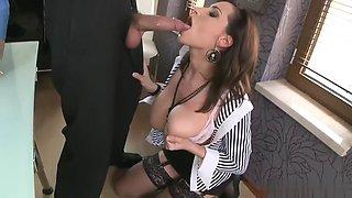 sexy new secretary has massive tits