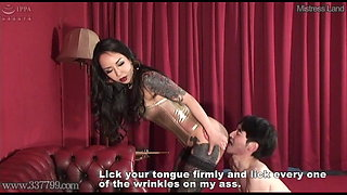 Brutal Facesitting and Licking Pussy with Japanese Mistress