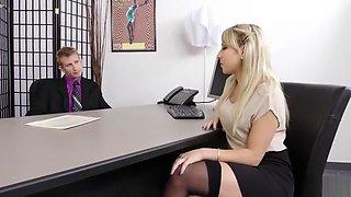 Ass Blond Secretary Valerie Exploited By Her Boss